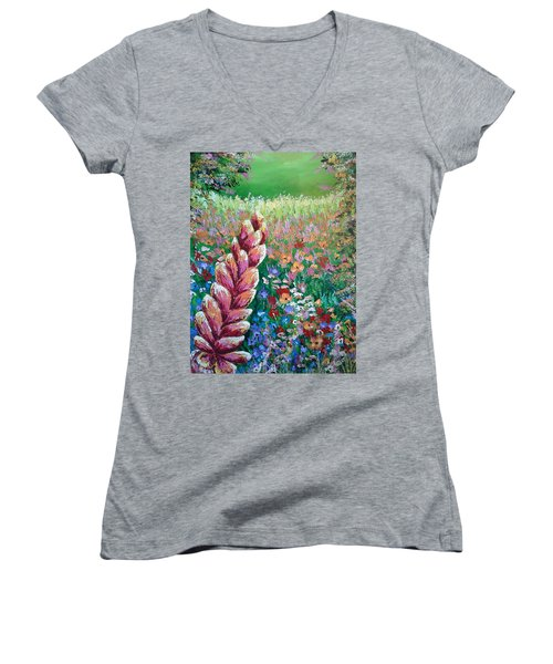 Colorful Day Women's V-Neck (Athletic Fit)