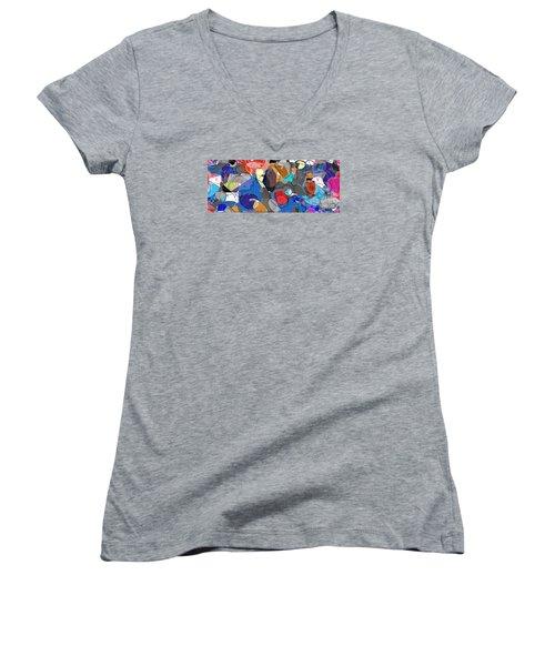 Colorful Daydream Women's V-Neck T-Shirt (Junior Cut) by Gabrielle Schertz