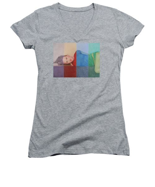 Colorful Girl Women's V-Neck (Athletic Fit)