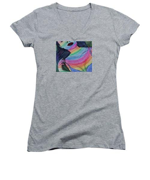 Colorful Lady Women's V-Neck T-Shirt
