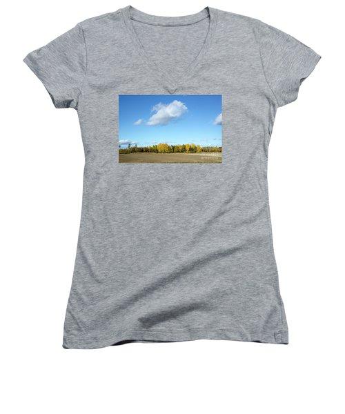 Colorful Landscape Women's V-Neck T-Shirt (Junior Cut) by Kennerth and Birgitta Kullman