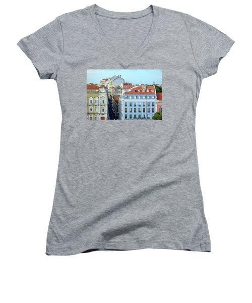 Colorful Lisbon Women's V-Neck T-Shirt