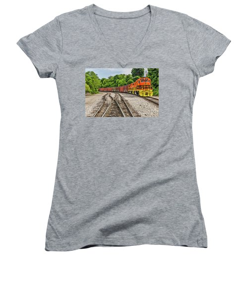 Colorful Marquette Rail Women's V-Neck