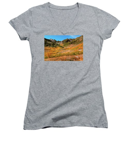Colorful Mcgee Creek Valley Women's V-Neck