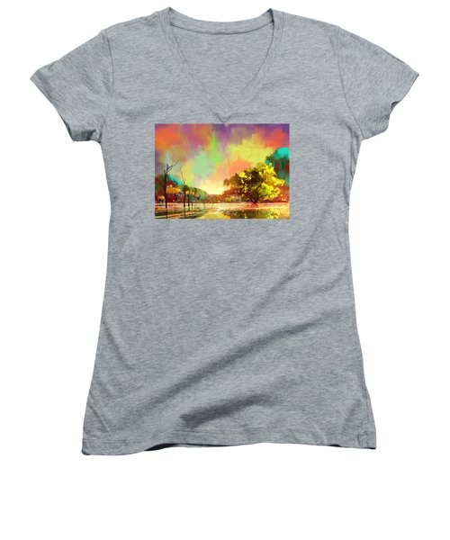 Colorful Natural Women's V-Neck (Athletic Fit)