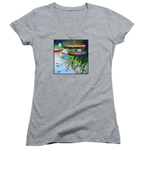 Colorful Reflections Women's V-Neck T-Shirt