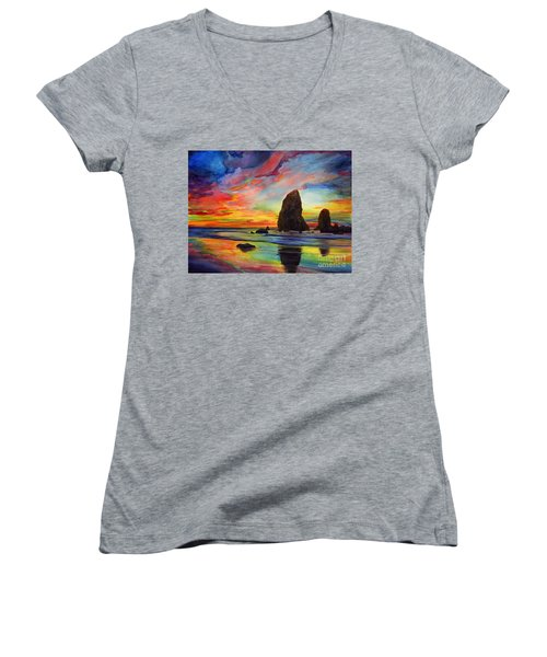 Colorful Solitude Women's V-Neck (Athletic Fit)