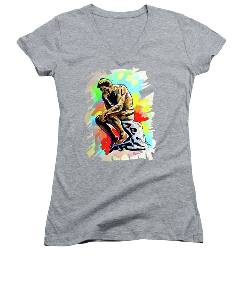 Colorful Thinker Women's V-Neck (Athletic Fit)