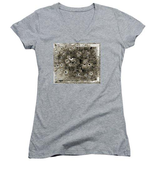 Color Me, Please Women's V-Neck T-Shirt (Junior Cut) by Barbara R MacPhail