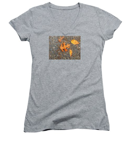 Colors Of Autumn In Montreal Women's V-Neck T-Shirt (Junior Cut) by Reb Frost