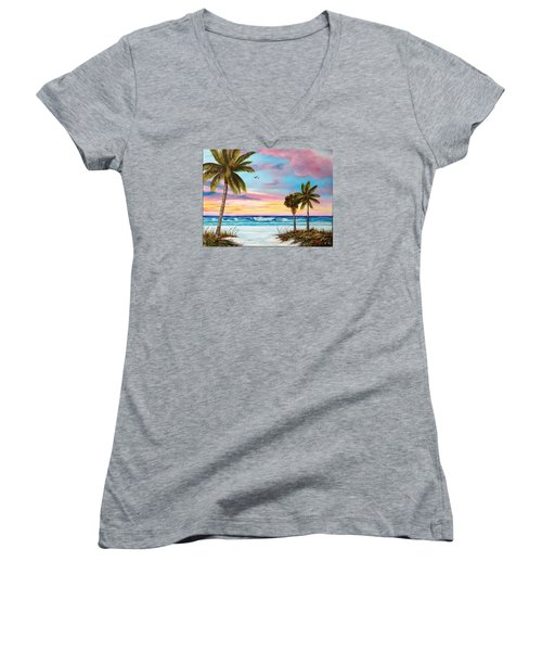 Colors Of Siesta Key Women's V-Neck T-Shirt