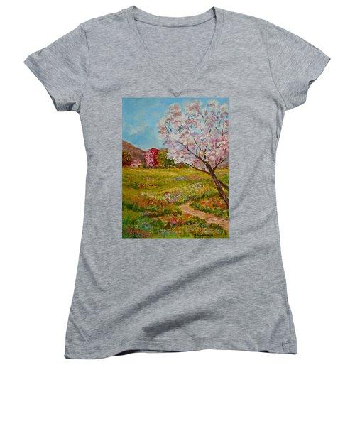 Colors Of Spring Women's V-Neck T-Shirt