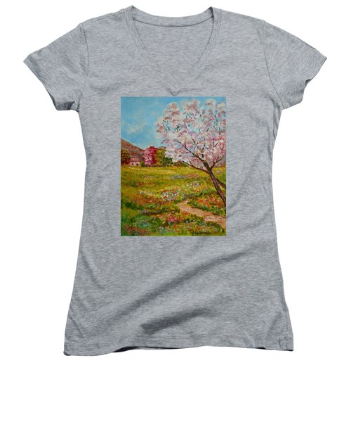 Colors Of Spring Women's V-Neck (Athletic Fit)