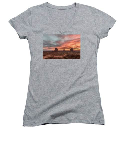 Colors Of The Past Women's V-Neck T-Shirt (Junior Cut) by Jon Glaser