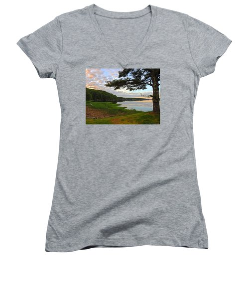 Colors Of The River Women's V-Neck