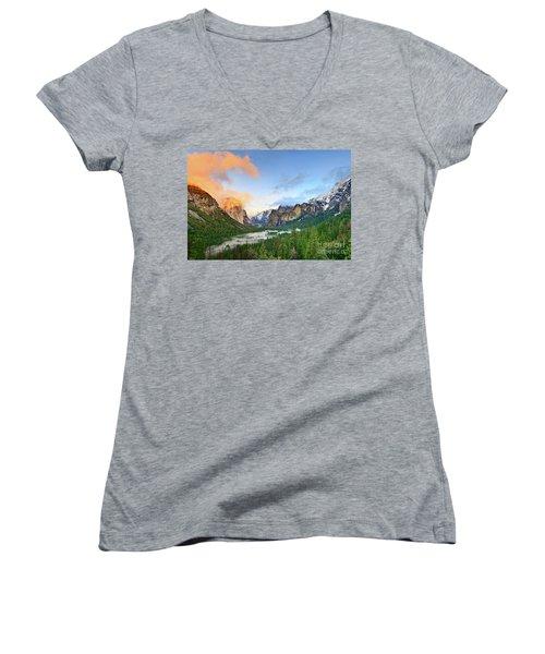 Colors Of Yosemite Women's V-Neck T-Shirt