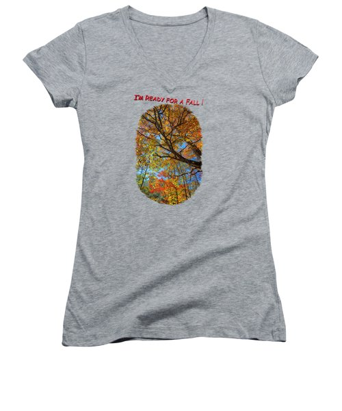 Colors On High 3 Women's V-Neck T-Shirt (Junior Cut) by John M Bailey