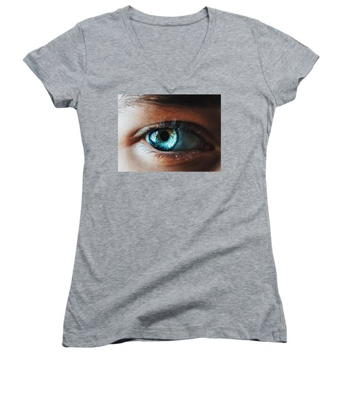 Women's V-Neck T-Shirt (Junior Cut) featuring the photograph Colors by Parker Cunningham