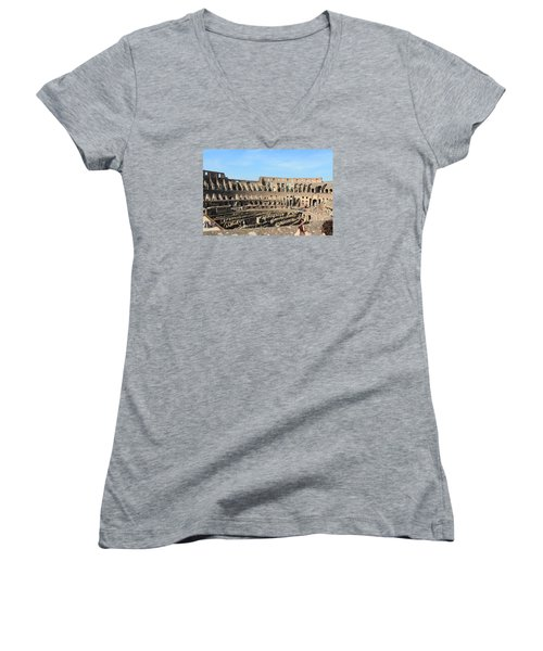 Colosseum Inside Women's V-Neck T-Shirt (Junior Cut) by Kaitlin McQueen