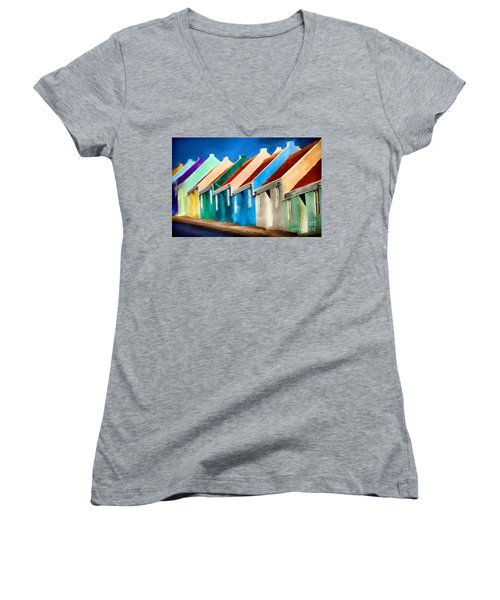 Women's V-Neck T-Shirt (Junior Cut) featuring the photograph Coloured by Jim  Hatch