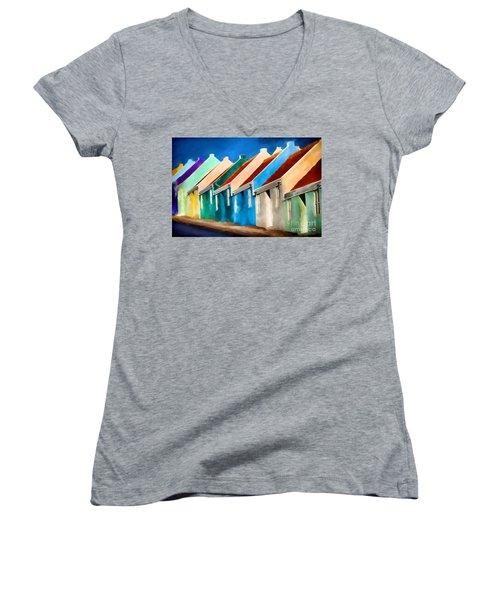 Coloured Women's V-Neck T-Shirt (Junior Cut) by Jim  Hatch