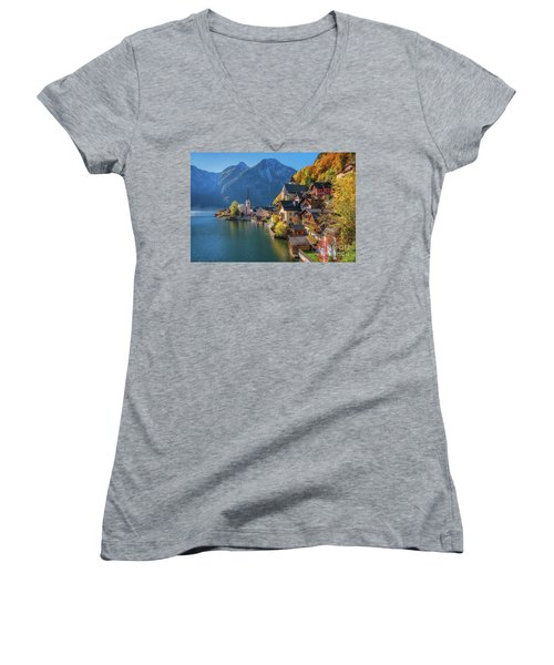 Colourful Hallstatt Women's V-Neck T-Shirt