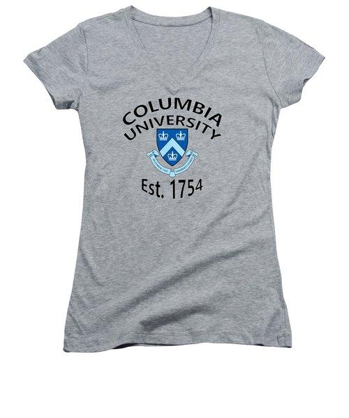 Columbia University Est 1754 Women's V-Neck