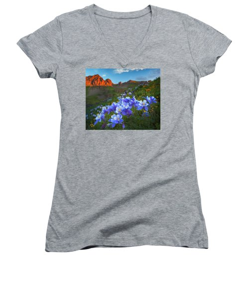 Columbine Sunrise Women's V-Neck