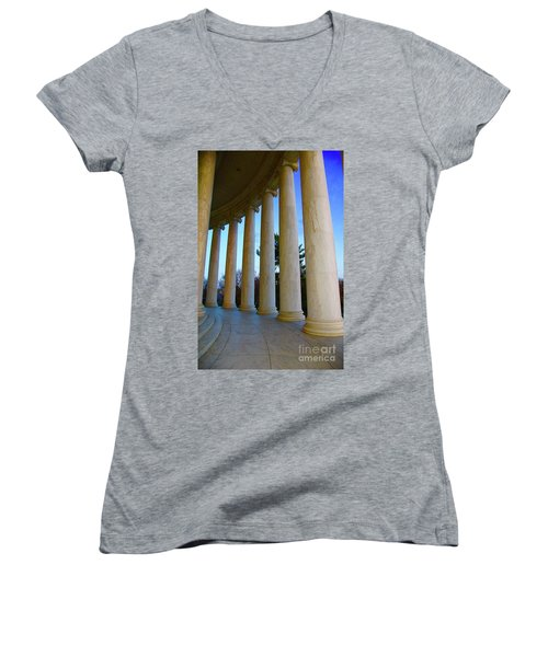 Columns At Jefferson Women's V-Neck T-Shirt