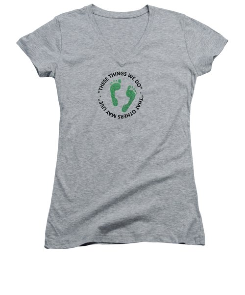 Combat Search And Rescue Women's V-Neck T-Shirt (Junior Cut) by Julio Lopez