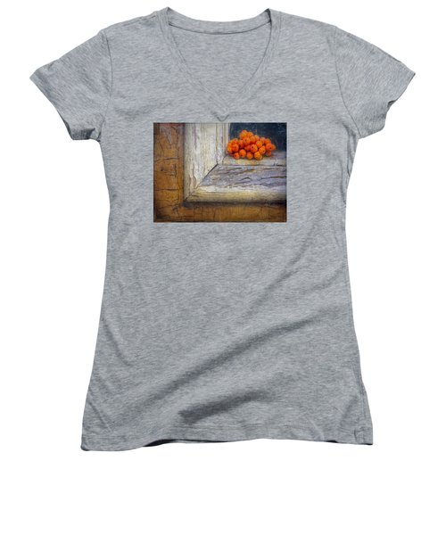 Women's V-Neck T-Shirt featuring the photograph Come And Gone by Bellesouth Studio