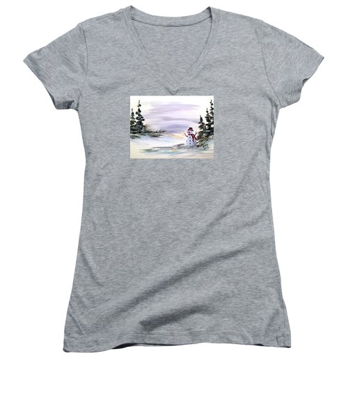 Come And Play With Me Women's V-Neck T-Shirt
