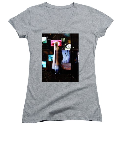 Women's V-Neck T-Shirt (Junior Cut) featuring the photograph Come Play The American Dream  by Inga Kirilova
