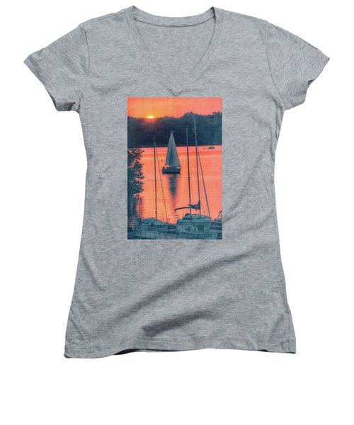 Come Sail Away Women's V-Neck (Athletic Fit)
