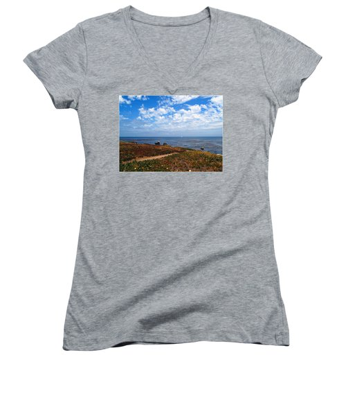 Women's V-Neck T-Shirt (Junior Cut) featuring the photograph Come Sit With Me by Joyce Dickens