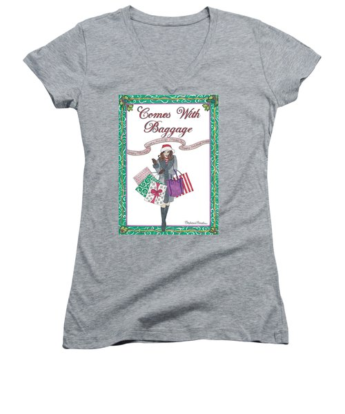 Comes With Baggage - Holiday Women's V-Neck