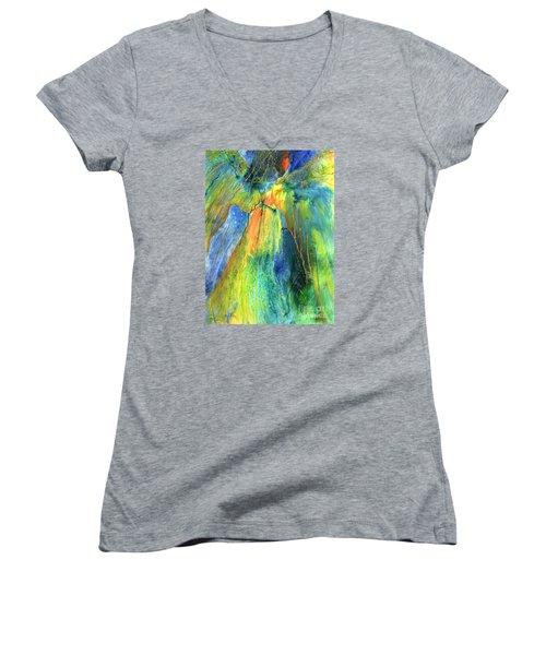 Coming Lord Women's V-Neck T-Shirt (Junior Cut) by Nancy Cupp