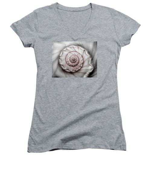 Coming Or Going Women's V-Neck T-Shirt (Junior Cut) by Tammy Schneider