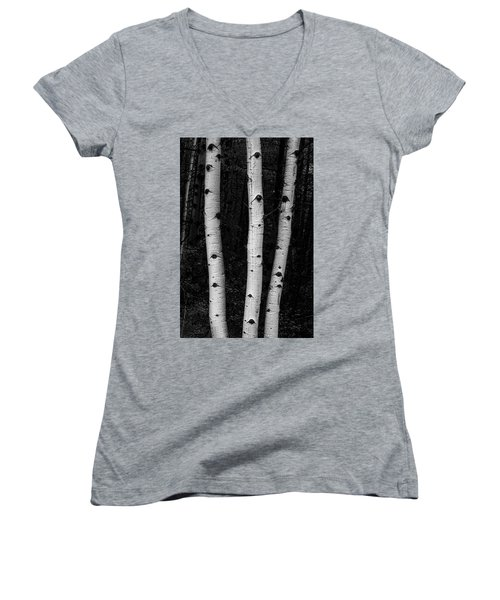 Women's V-Neck T-Shirt featuring the photograph Coming Out Of Darkness by James BO Insogna