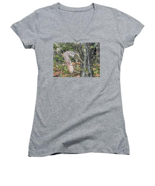 Coming Out Of The Woods Women's V-Neck (Athletic Fit)