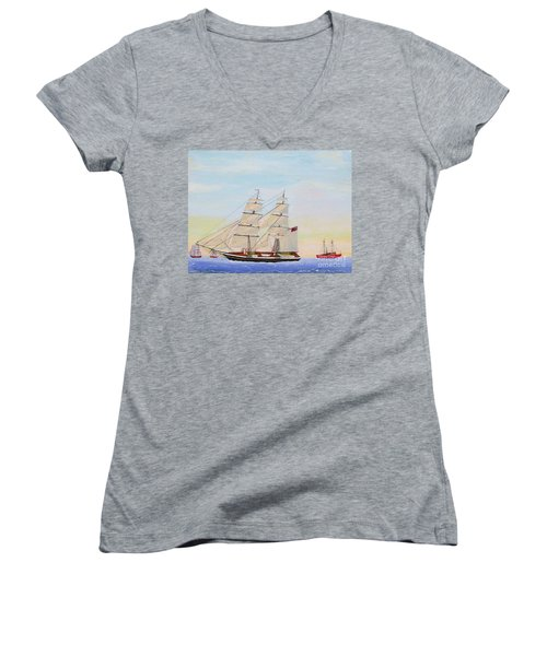 Coming To America - 1872 Women's V-Neck (Athletic Fit)