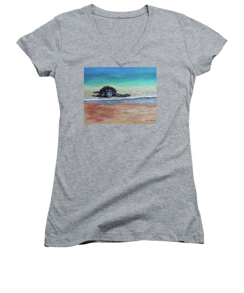 Coming To Nest Women's V-Neck T-Shirt (Junior Cut) by Laura Forde