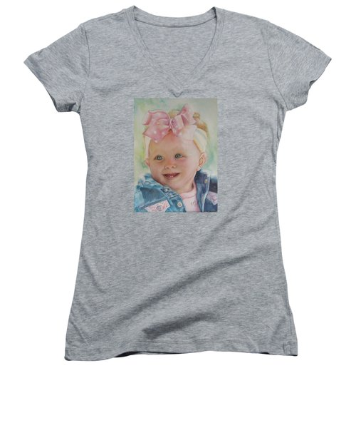 Commissioned Toddler Portrait Women's V-Neck T-Shirt