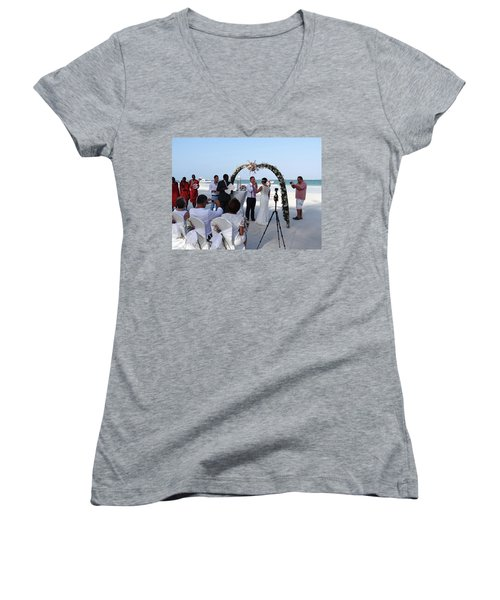 Commitment On The Beach In Kenya Women's V-Neck (Athletic Fit)