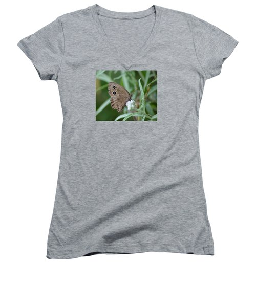 Common Wood Nymph Women's V-Neck