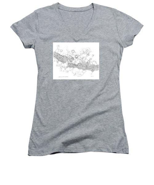 Complex Fluid  Women's V-Neck T-Shirt