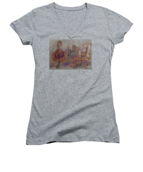 Composition In B Flat Women's V-Neck