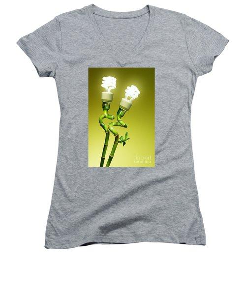Conceptual Lamps Women's V-Neck (Athletic Fit)