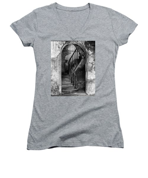 Concrete And Stairwell Women's V-Neck (Athletic Fit)