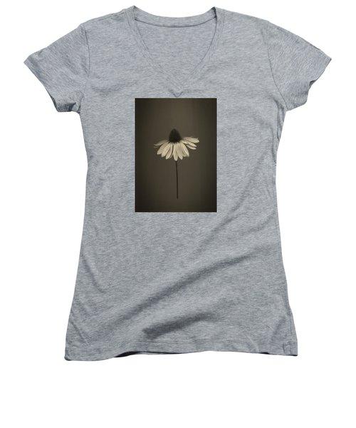 Cone Flower 8 Women's V-Neck T-Shirt (Junior Cut) by Simone Ochrym